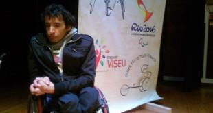 Um dia com atleta paraolímpico Mário Trindade no agrupamento das escolas do Sátão