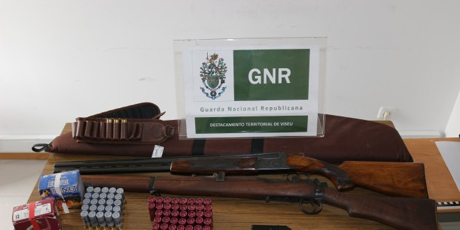 GNR Viseu - Armas apreendidas