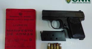 Riodades – Detido por posse ilegal de arma
