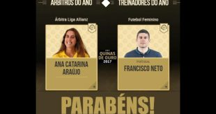 Árbitra de Viseu premiada pela Federação Portuguesa de Futebol
