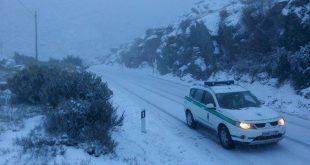 Queda de neve corta estradas no distrito de Viseu