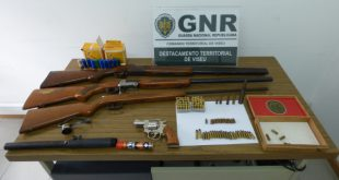 Detido homem de 69 anos por posse ilegal de armas
