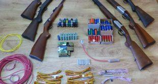 Detido por posse ilegal de caçadeiras, carabina e vários explosivos