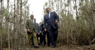 Membros do governo em acções de limpeza da floresta