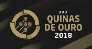 Federação Portuguesa de Futebol atribui prémios Quinas de ouro 2018 em Resende