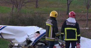 Destroços da aeronave que se despenhou em Bragança foram transportados para o hangar de Viseu