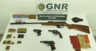 GNR de Viseu deteve idos por posse ilegal de armas