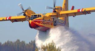 Seis meios aéreos apoiam bombeiros no combate às chamas em Aguiar da Beira