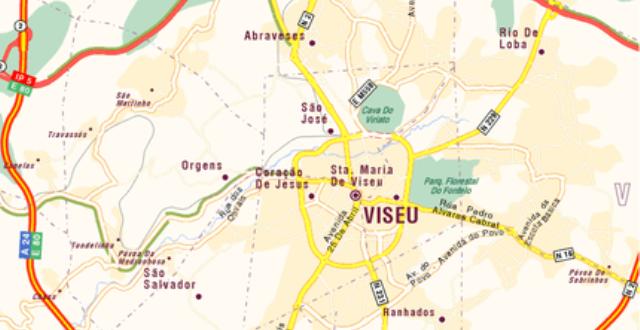 mapa das ruas de viseu Saiba que estradas em Viseu vão estar cortadas este domingo  mapa das ruas de viseu