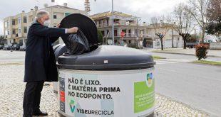 Moloks indiferenciados de Viseu com mensagens de boas práticas da separação de resíduos