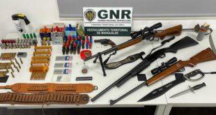Sátão: GNR deteve um homem por posse de várias armas ilegais